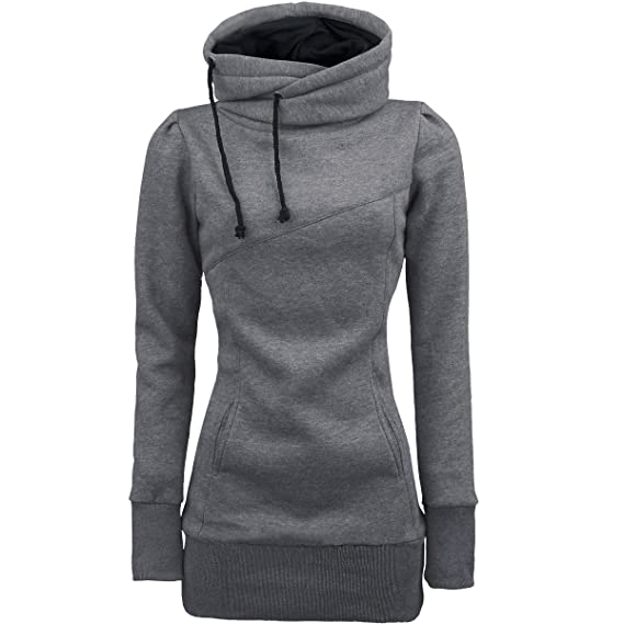 Amazon.com: Respctful ♪☆ Womens Fashion Solid Hooded Pullover Long Sleeve Sweater Tumblr Tunic Tops Slim Casual Pullover: Clothing