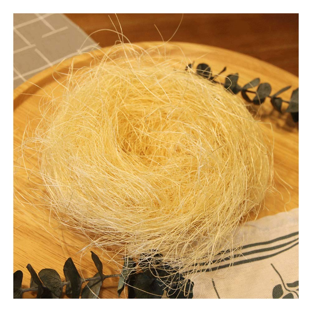 80g Natural Raffia for Florist Bouquets Decoration Raffia Ribbon Crafts Weaving Gift Wrapping Garden Use (Color : Wood Color, Size : 10 Packs) by RKRGQ