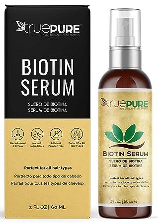 Amazon Com Truepure Biotin Hair Growth Serum Hair Loss Prevention Treatment For Men Women With Fine Thinning Hair Fragrance Free Sulfate Free Dht Blocking Hair Beard Growth