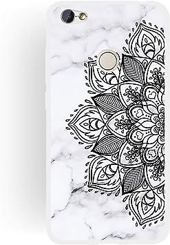 CUAgain Funda Compatible con Xiaomi Redmi Note 5A/5A Prime Silicona Dibujos Motivo Mármol Frase Ultrafina Slim Carcasa Case Antigolpes TPU Bumper Resistente Cover Niña Chica,Mandala A: Amazon.es: Electrónica