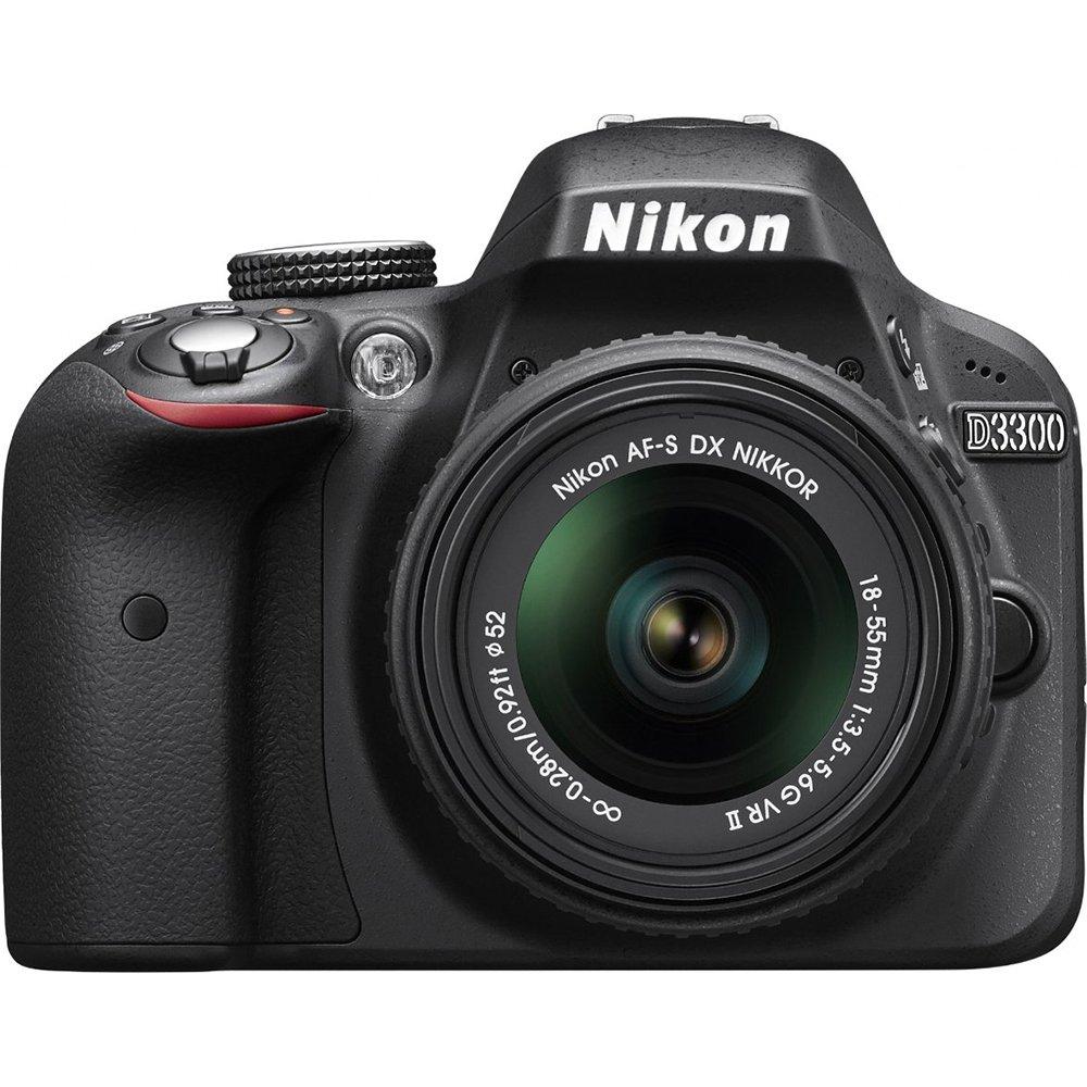 Nikon D3300 24.2 MP CMOS Digital SLR with AF-S DX NIKKOR 18-55mm f/3.5-5.6G VR II Zoom Lens (Black) (Renewed) by Nikon