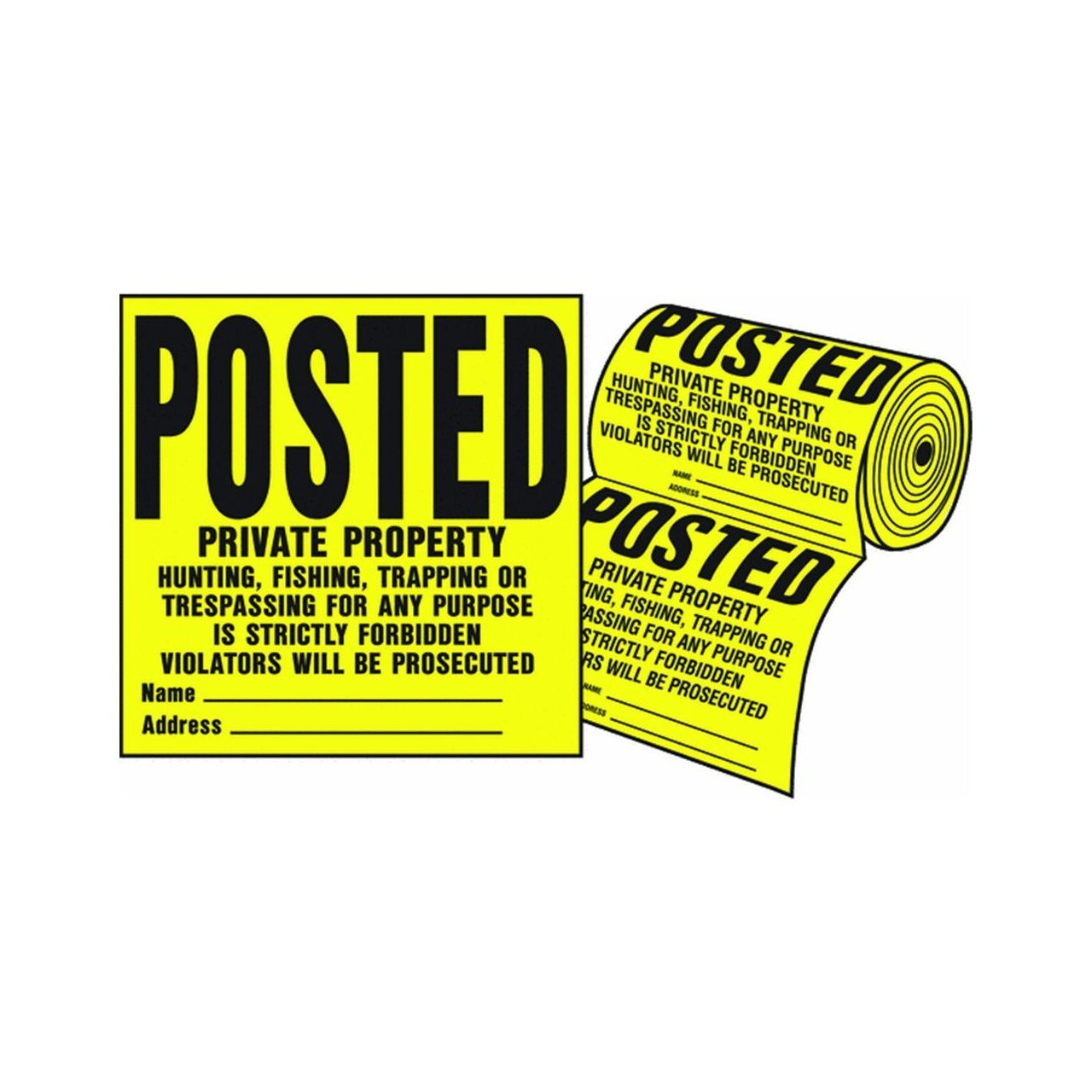 """Hy-Ko YP-1 11"""" X 11"""" Plastic Private Property Sign"""