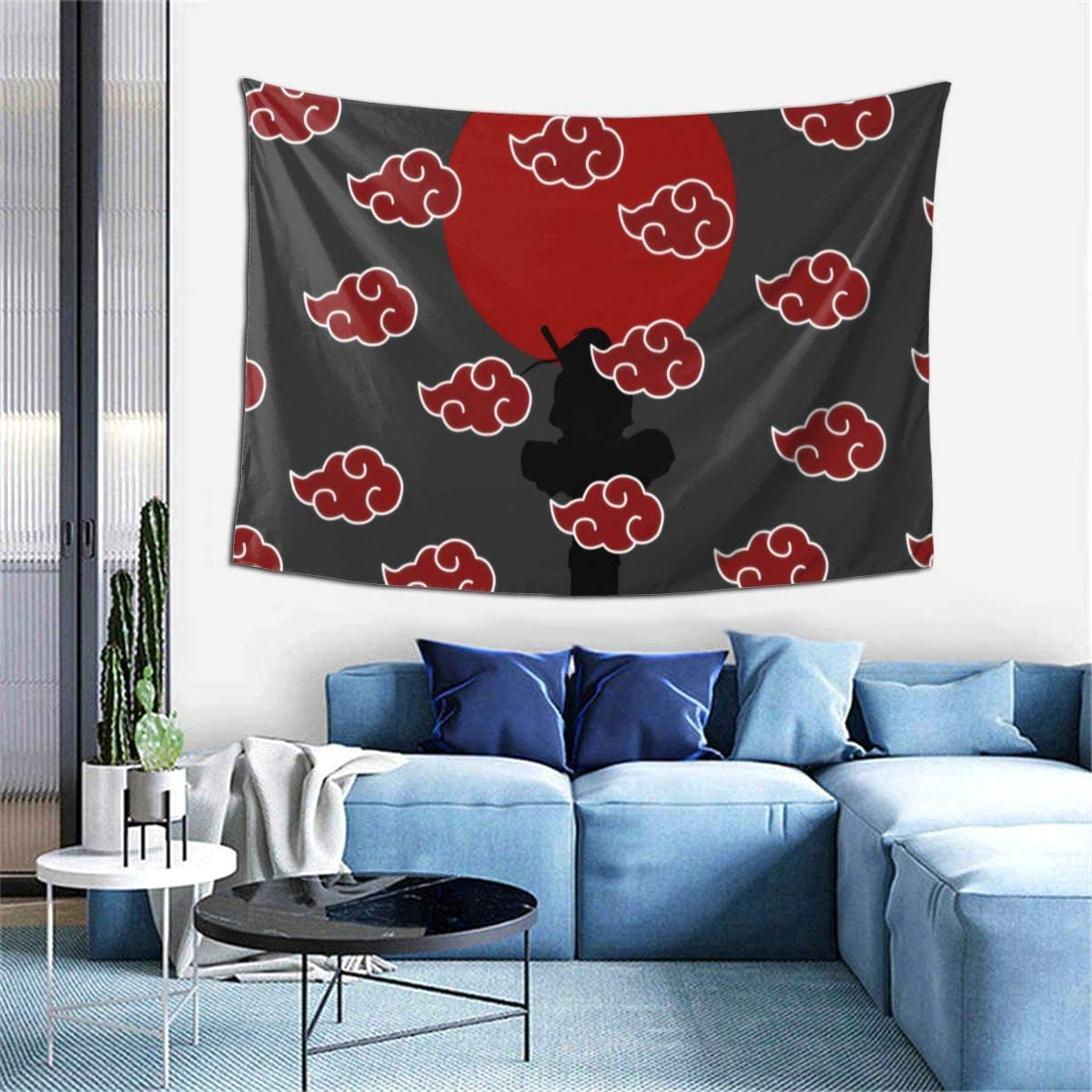 Wrenho Naruto Anime Tapestry Wall Art Hanging Decor Tapestry Background Home Decoration Room Decor Gift for Bedroom Living Room Wall Decoration 60x40 Inch