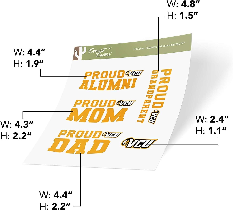 Family Full Sheet Virginia Commonwealth University VCU Rams NCAA Sticker Vinyl Decal Laptop Water Bottle Car Scrapbook