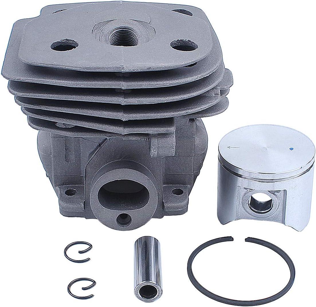 Haishine Kit de pistones de Cabeza cilíndrica de 47 mm para Husqvarna 359 357 XP 357XP Partes del Motor del Motor de Motosierra 537 15 73-02