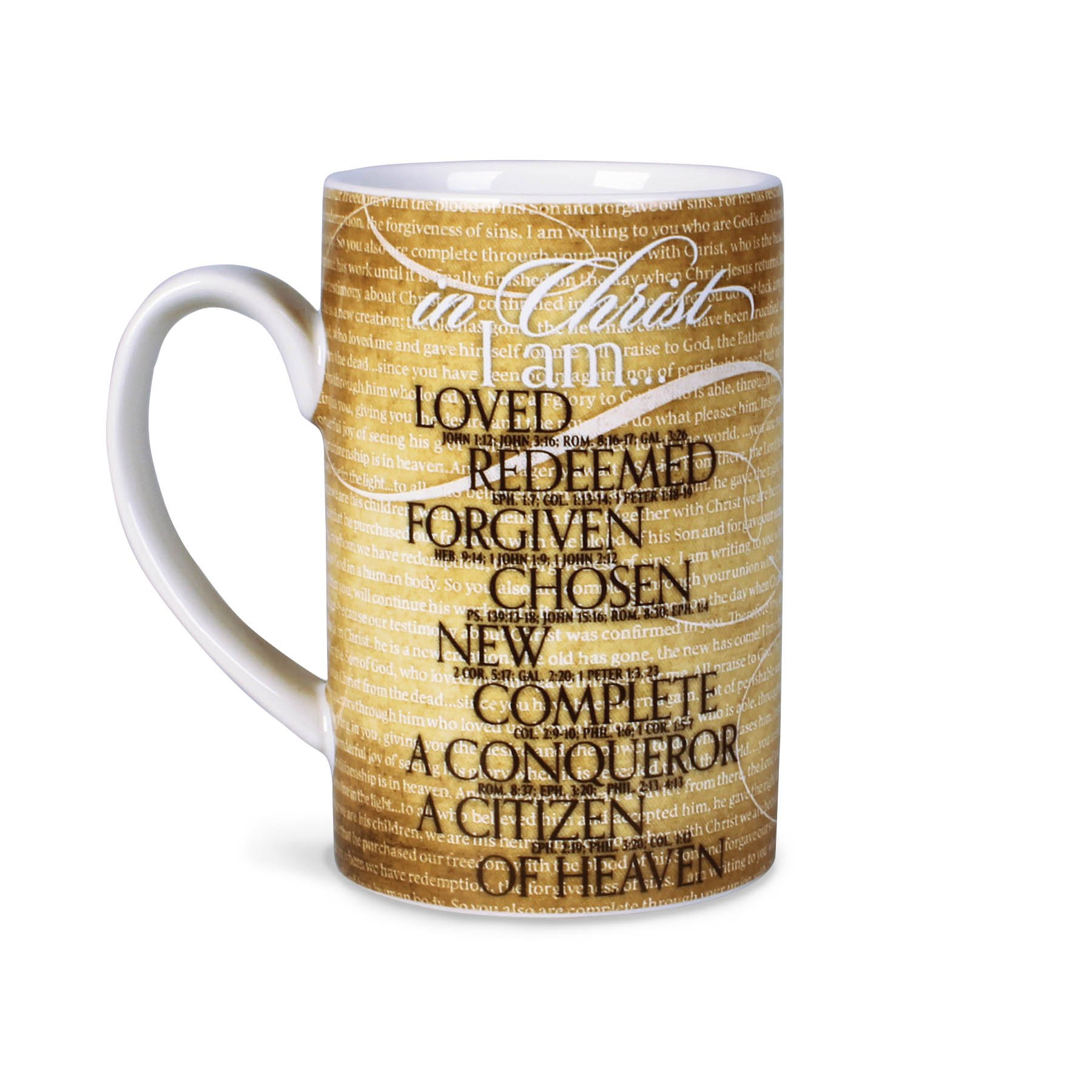 Lighthouse Christian Products In Christ I Am Ceramic Mug, 12 oz by Lighthouse Christian Products