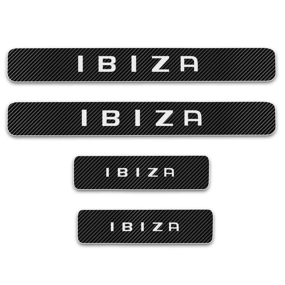 FSXTLLL Umbral de Puerta Door Sill Pedal para Puerta Pegatinas para Seat Ibiza