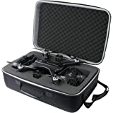 co2crea Hard Travel Case for Holy Stone HS700 FPV Drone 1080p HD Camera Live Video GPS Return Home RC Quadcopter (Black Case