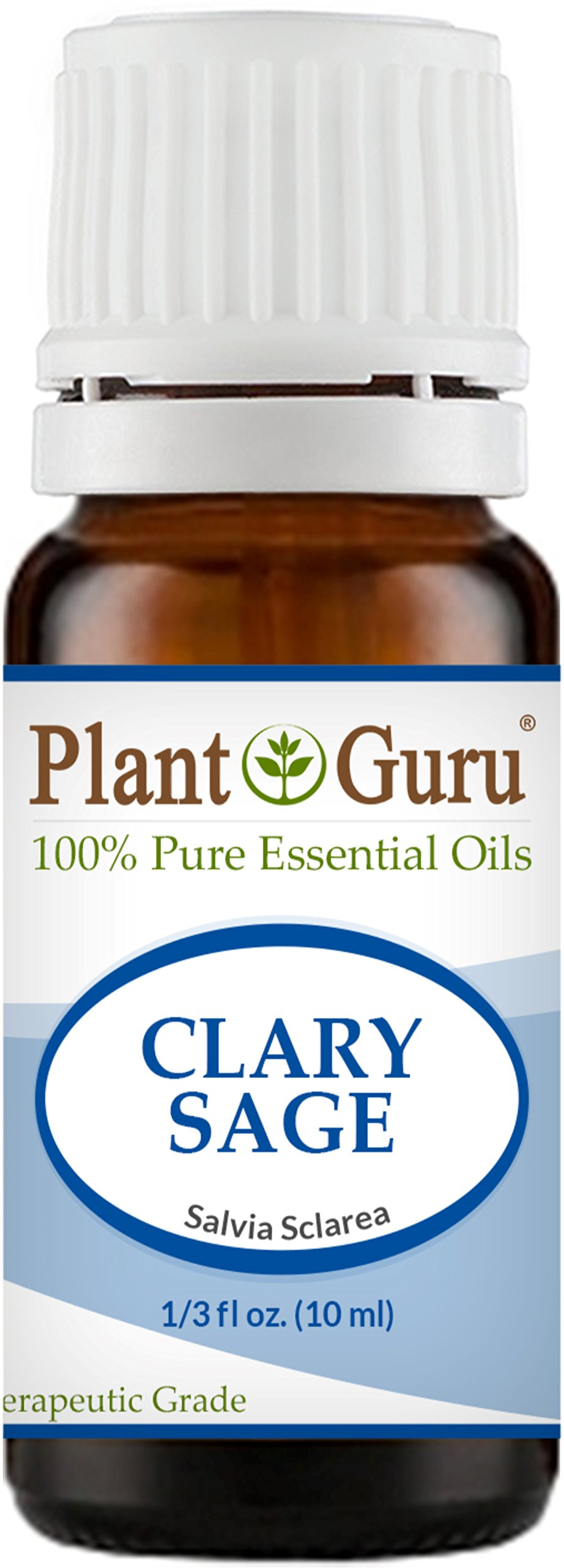 Clary Sage Essential Oil 10 ml. 100% Pure Undiluted Therapeutic Grade.
