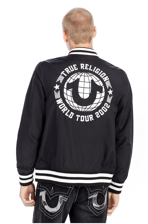 9e379598a0227 Amazon.com: True Religion Men's World Tour Long Sleeve Bomber Jacket:  Clothing