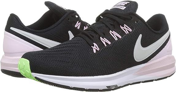 Nike W Air Zoom Structure 22, Zapatillas de Running para Mujer, Negro (Black/Vapste Grey/Pink Foam/Lime Blast 004), 38 EU: Amazon.es: Zapatos y complementos