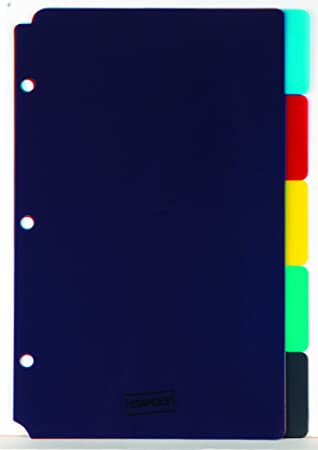 amazon com staples 5 1 2 x 8 1 2 5 tab mini tab dividers office