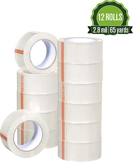 Moving Packaging Grizzly Brand Clear Packing Tape Refill Rolls for Shipping