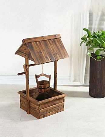 SED Blumenschacht Karbonisierung Korrosionsschutz Holz Blumentopf Balkon  Brunnen Stil Blumenständer Garten Dekoration  Home Umgebung Dekorationen