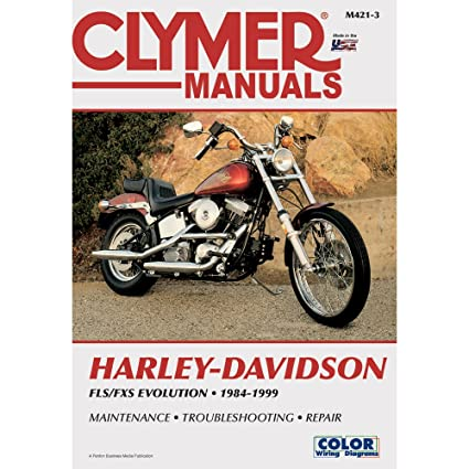 amazon com: 1 - clymer harley-davidson fls fxs evolution evo softail (1984- 1999): everything else