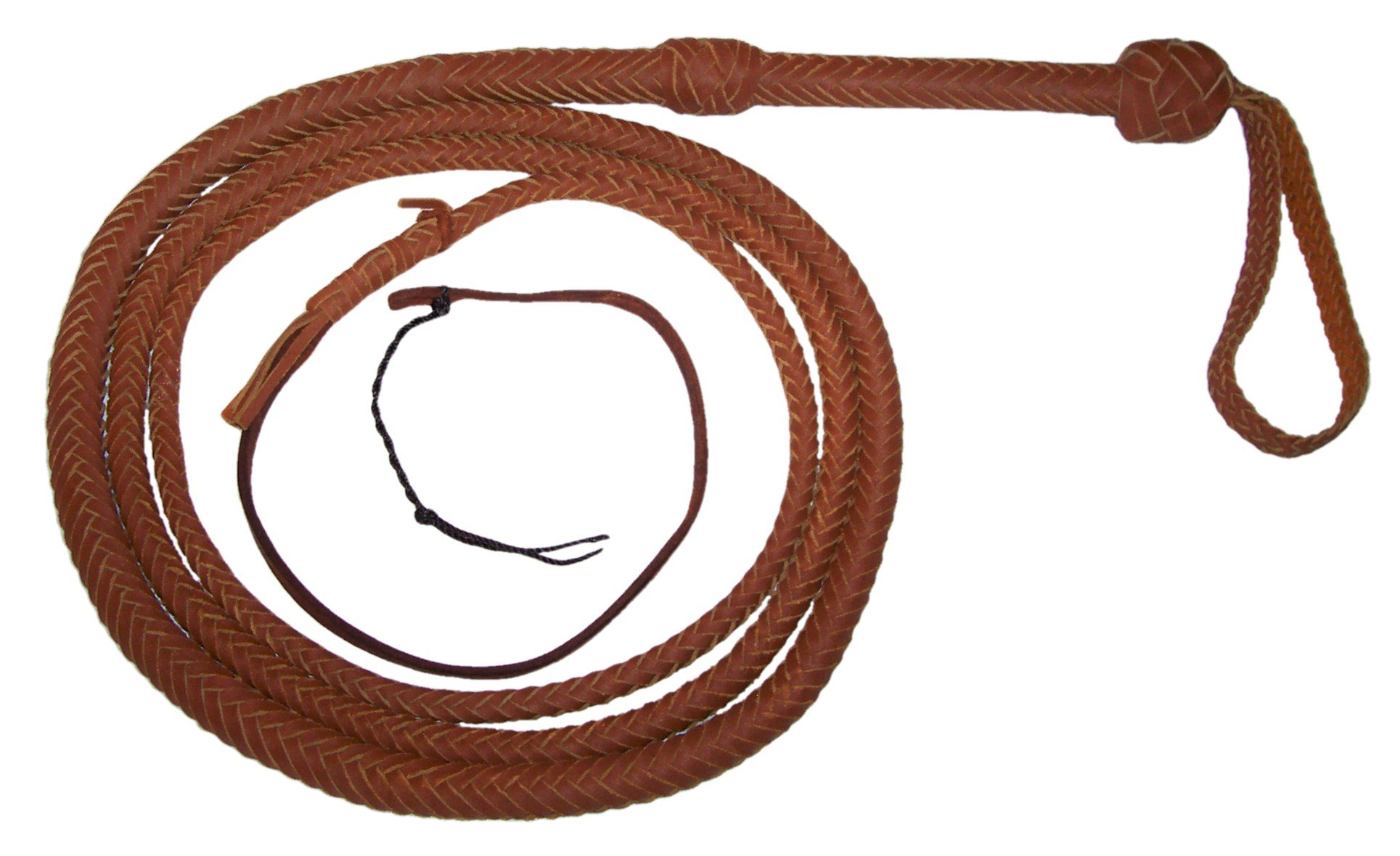 10 Foot 16 Plait Bullwhip Tan Real Leather BULLWHIP BULL WHIPS by JZRJ