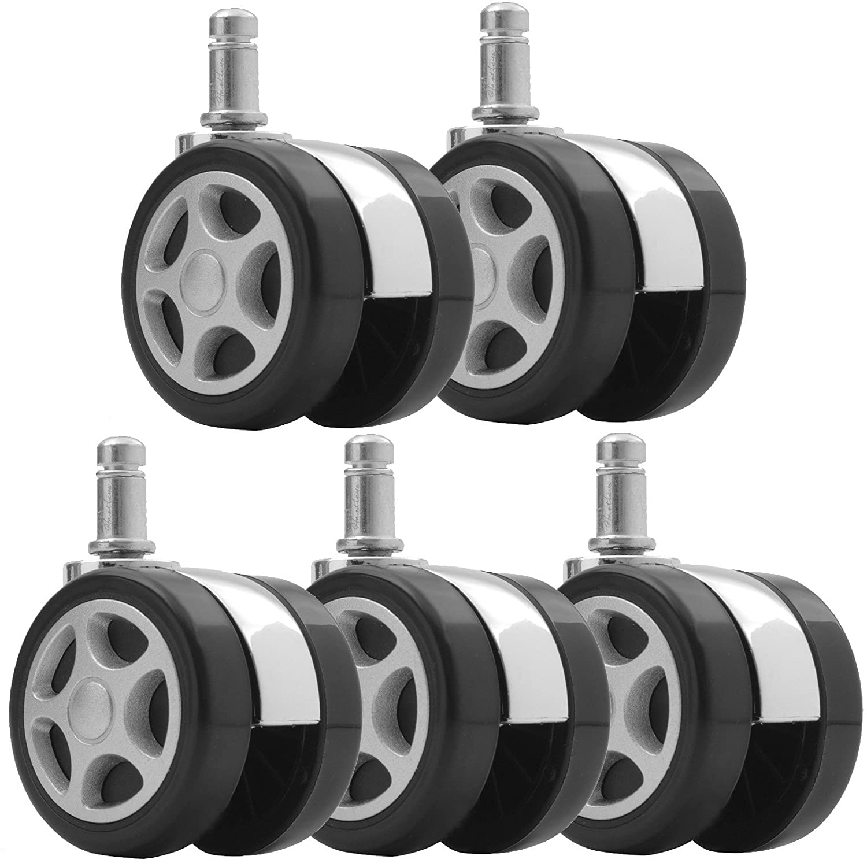 Hartleys Set of 5 Replacement Castor Wheels - Car Alloy Design