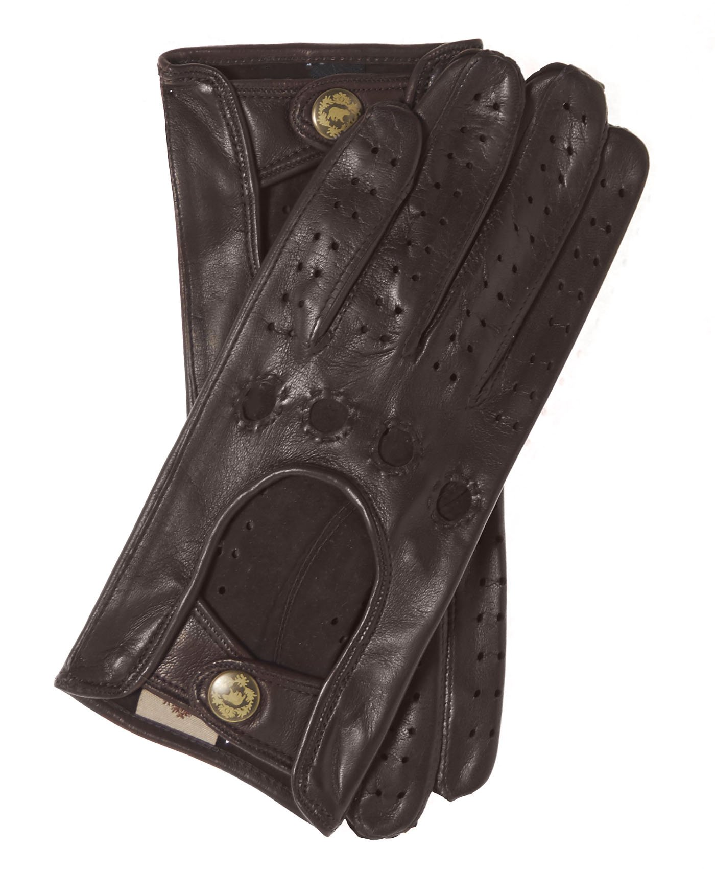Fratelli Orsini Women's Italian Leather Driving Gloves Size 8 Color Brown