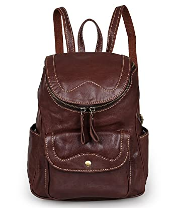 Amazon.com: Le Donne Leather Everything Women's Backpack/Purse ...