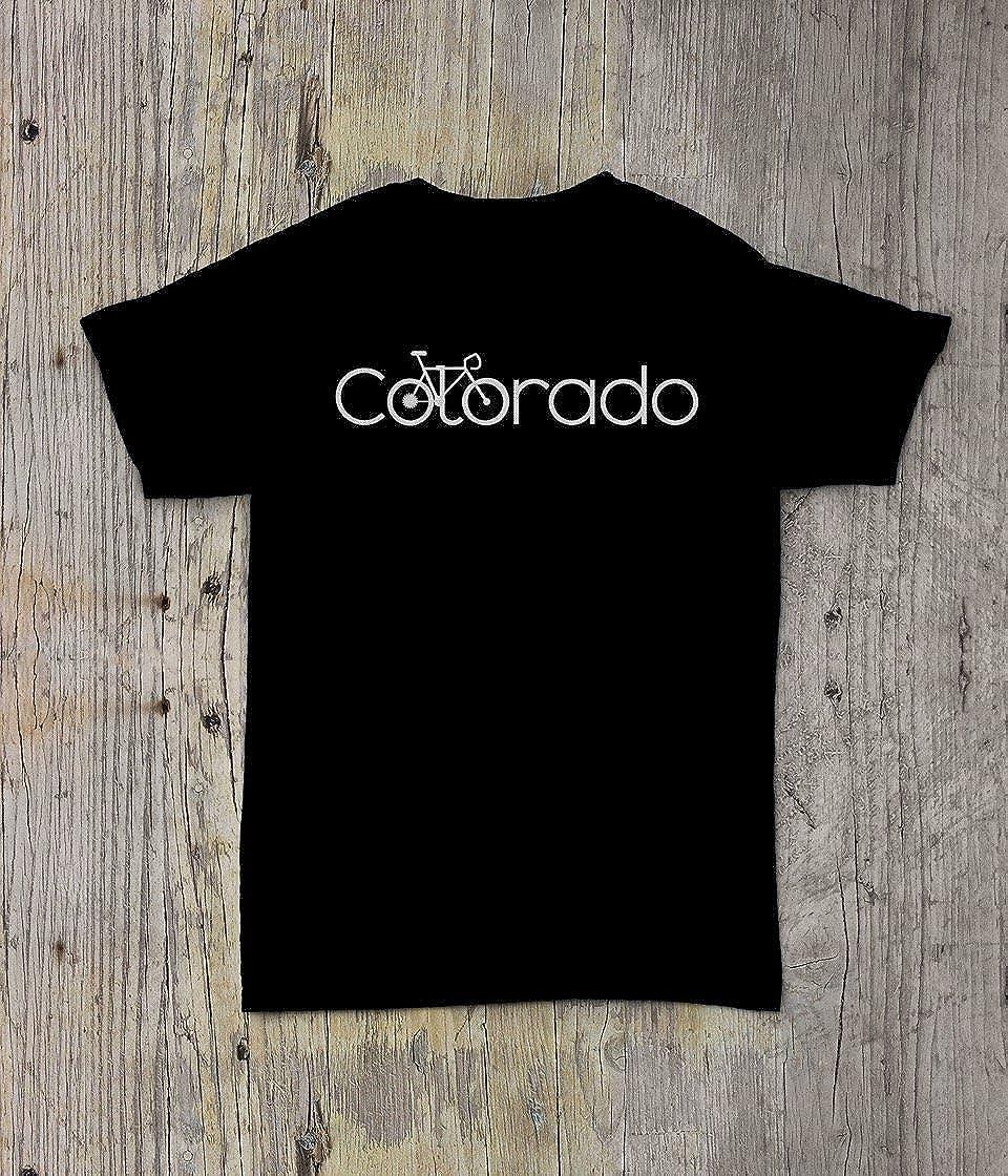 Bicicleta camisa de Colorado – para bicicleta Colorado camiseta – Simple bicicleta: Amazon.es: Ropa y accesorios