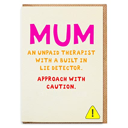 Tarjeta de cumpleaños divertida para mamá, tarjeta divertida ...