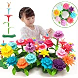 QHTOY DHSM Children's Toy Set Flower Building Toy Garden Building Block Toy Girl Boy 46 PCS Educational Toy Creative and…