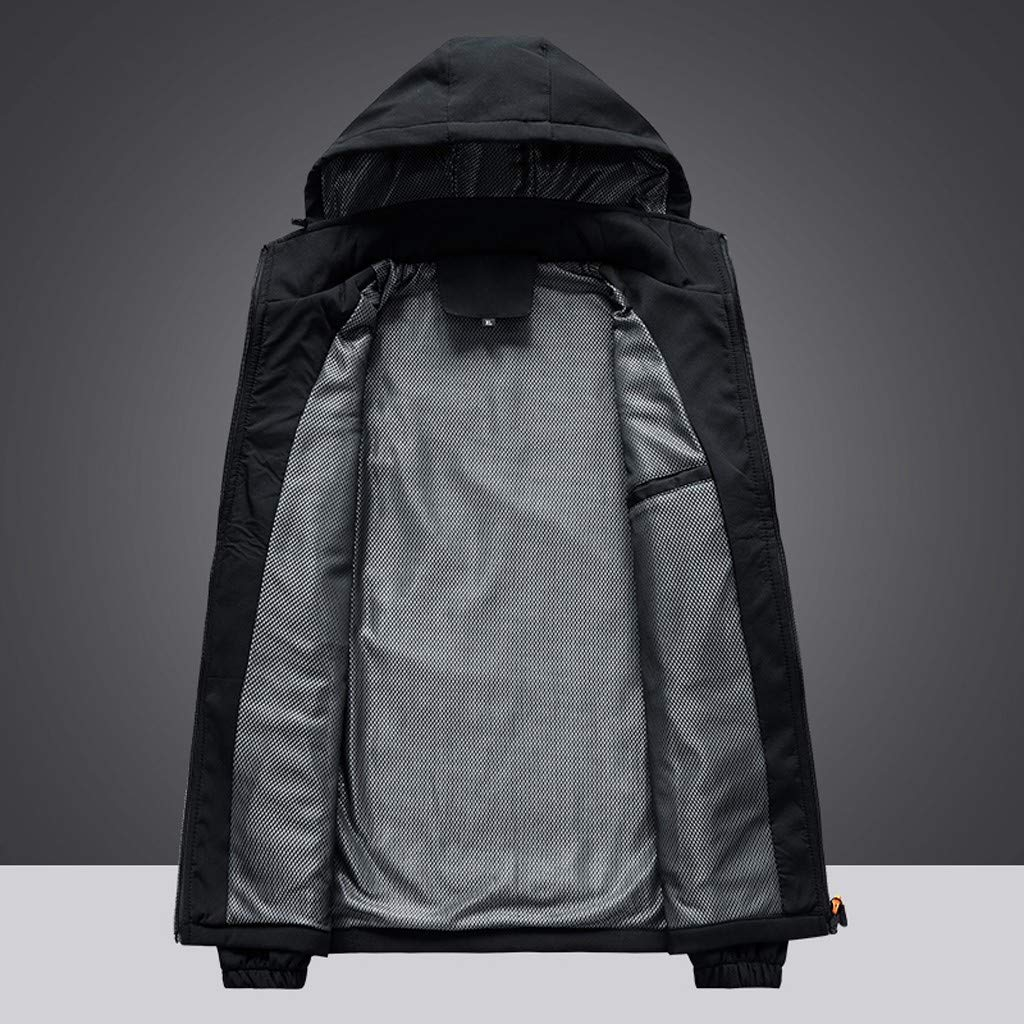 Logobeing Chaqueta Impermeable Hombre Abrigo Casual Deportivo Impermeable de Secado R/ápido y Transpirable para Exteriores