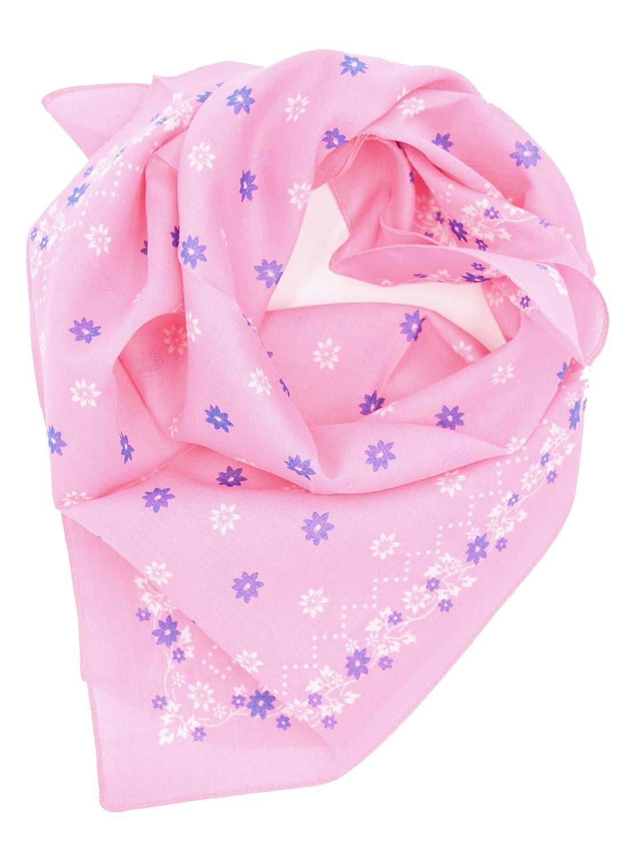 Moschen-Bayern Damen Trachtenhalstuch Halstuch Blau Rosa