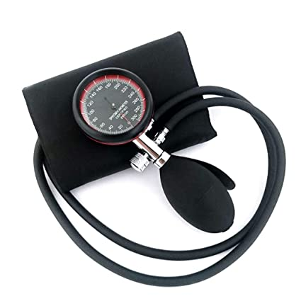 Esfigmomanómetro Tensiómetro Analógico Manual de Brazo + Grabado (Negro/Rojo)