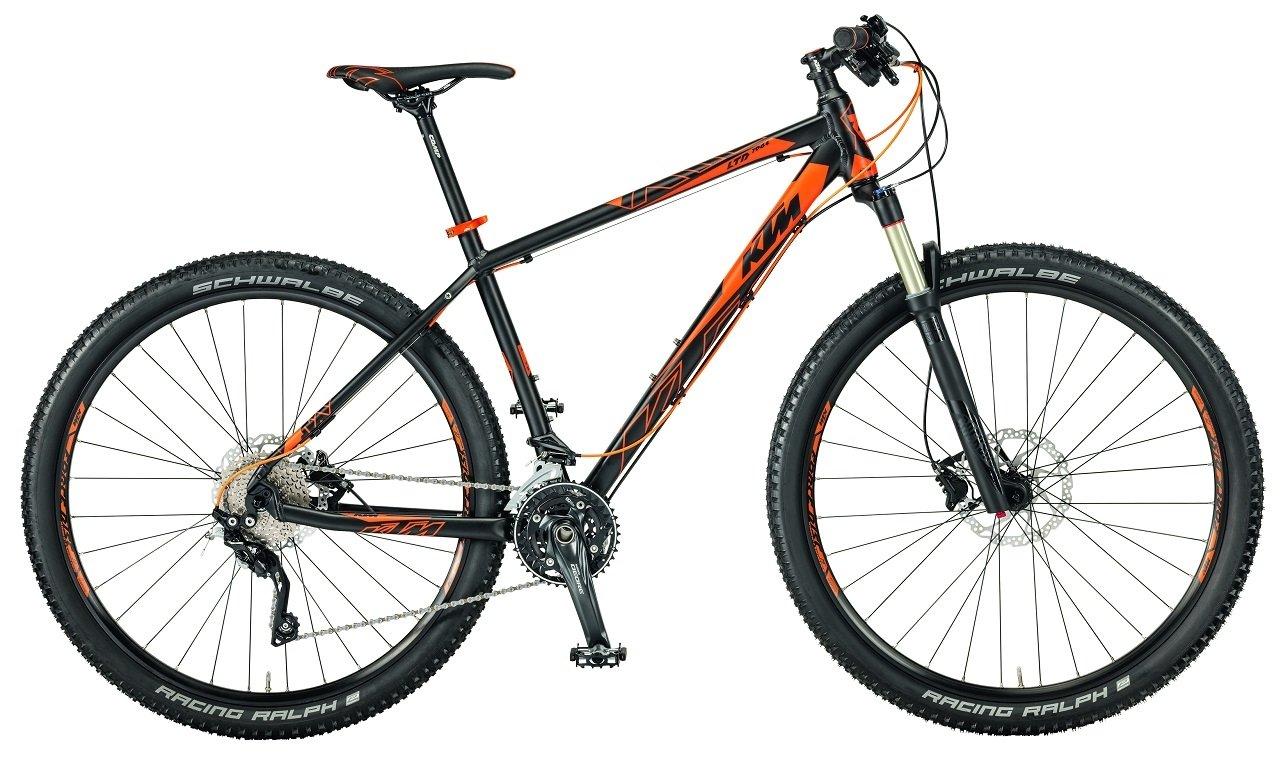 'KTM Ultra 196429MTB 2017NERO OPACO ARANCIO RH 53cm, 20Gang, 12,80kg
