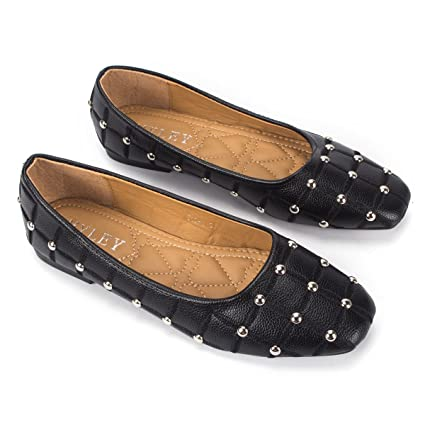 f183eae90 Amazon.com  Womens Faux Studded Loafer Smoking Shoes Flats 3 Colors  Sports    Outdoors