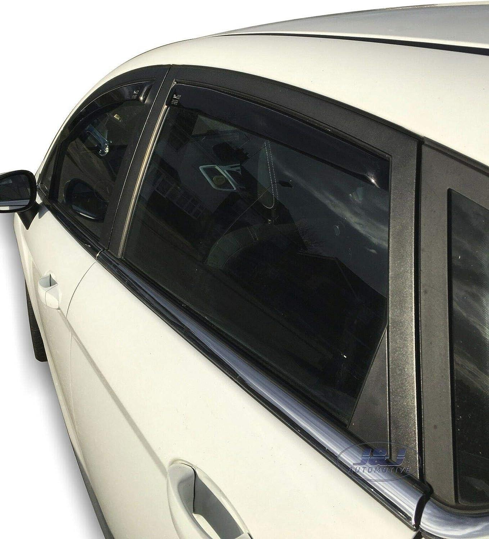 J/&J AUTOMOTIVE DEFLETTORI ARIA ANTITURBO per FORD Fiesta 6 5 porte 2008-2017 4 pezzi