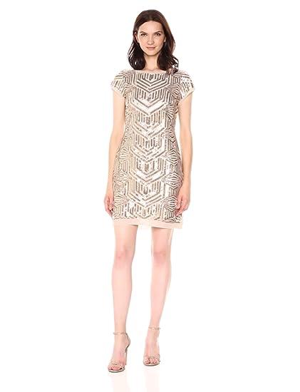e77217dfa5b1 Vince Camuto Women s Sequin Shift Dress at Amazon Women s Clothing store