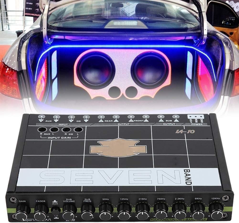 Delaman Car Automobile Audio Stereo EQ Equalizer with 7 Band Car Equalizer