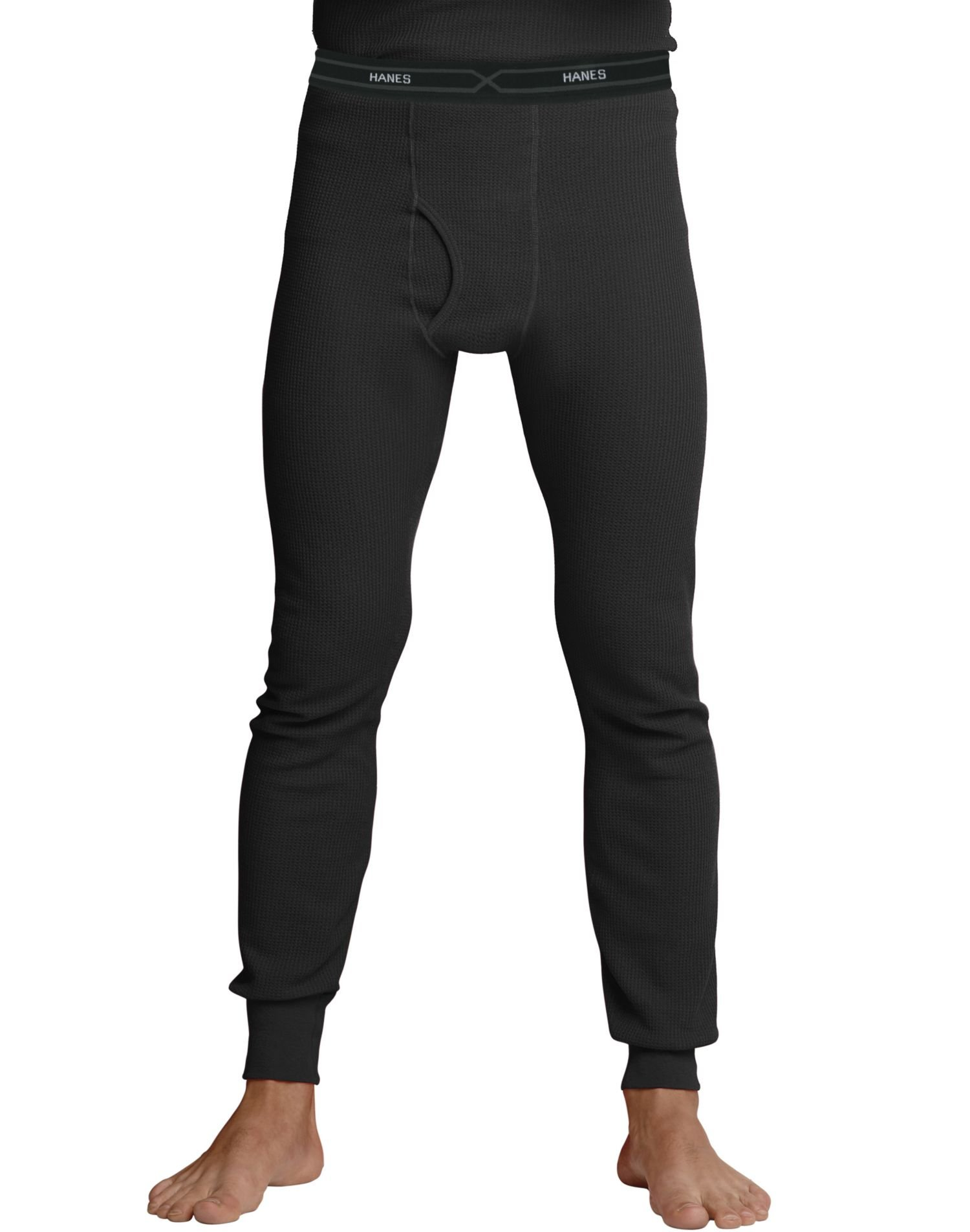 Hanes Men's Big Red Label X-Temp Thermal Pant, Black, X-Large by Hanes