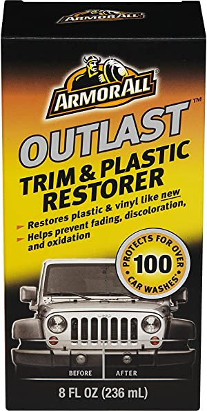 Armor All Car Trim & Plastic Cleaner, Cleaning for Cars, Truck, Motorcycle, Bottles, Outlast, 8 Oz, 17451