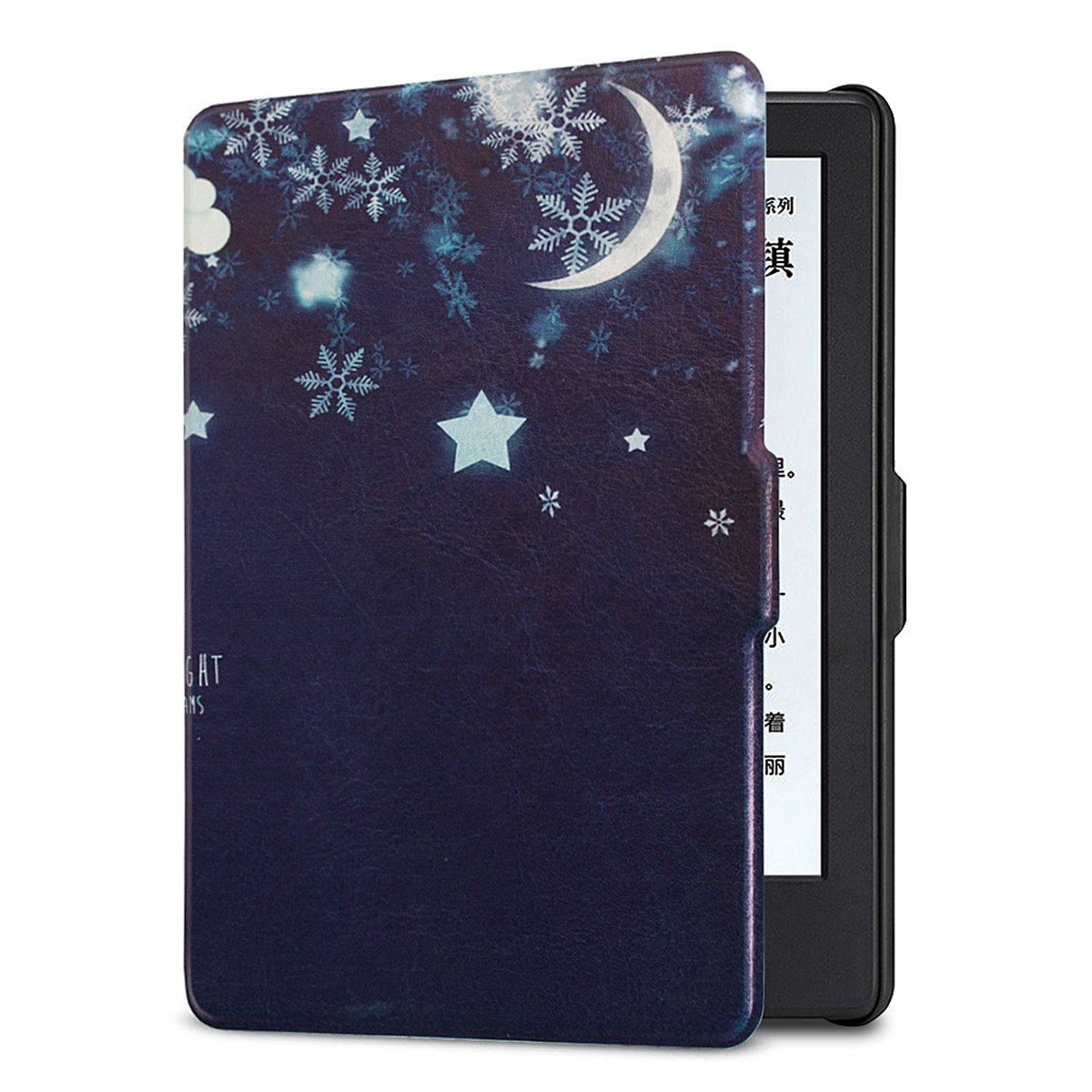 ISeeSee  Case for Kindle Paperwhite - The Thinnest and Lightest PU Leather Cover Auto Sleep/Wake for All-New Amazon Kindle Paperwhite (Fits All 2012, 2013, 2015 and 2016 Versions),Good Night