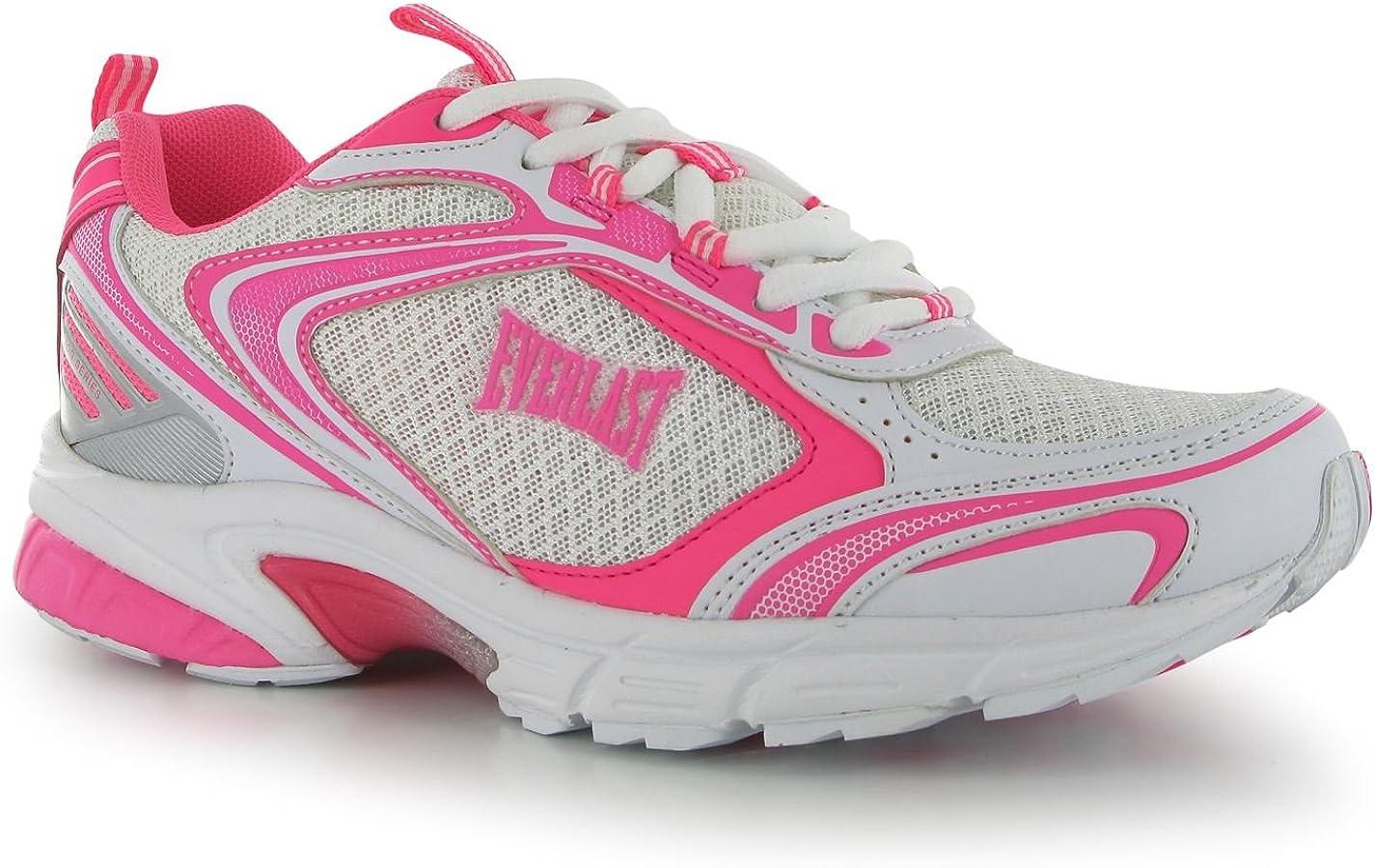 Everlast - Zapatillas de Material Sintético para Mujer Blanco Blanco y Rojo (White/Cerise): Amazon.es: Zapatos y complementos