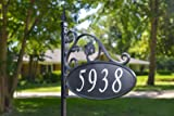 Yard Sign Address Plaque Handcrafted in