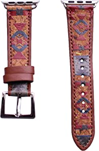 40mm/38mm Compatible for Apple Watch, Delicate Western Pattern Print Watch Band No. 22M10
