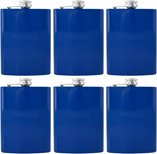 Gifts Infinity 8oz Hip Stainless Flask Set of 6 Gifts Infinity®