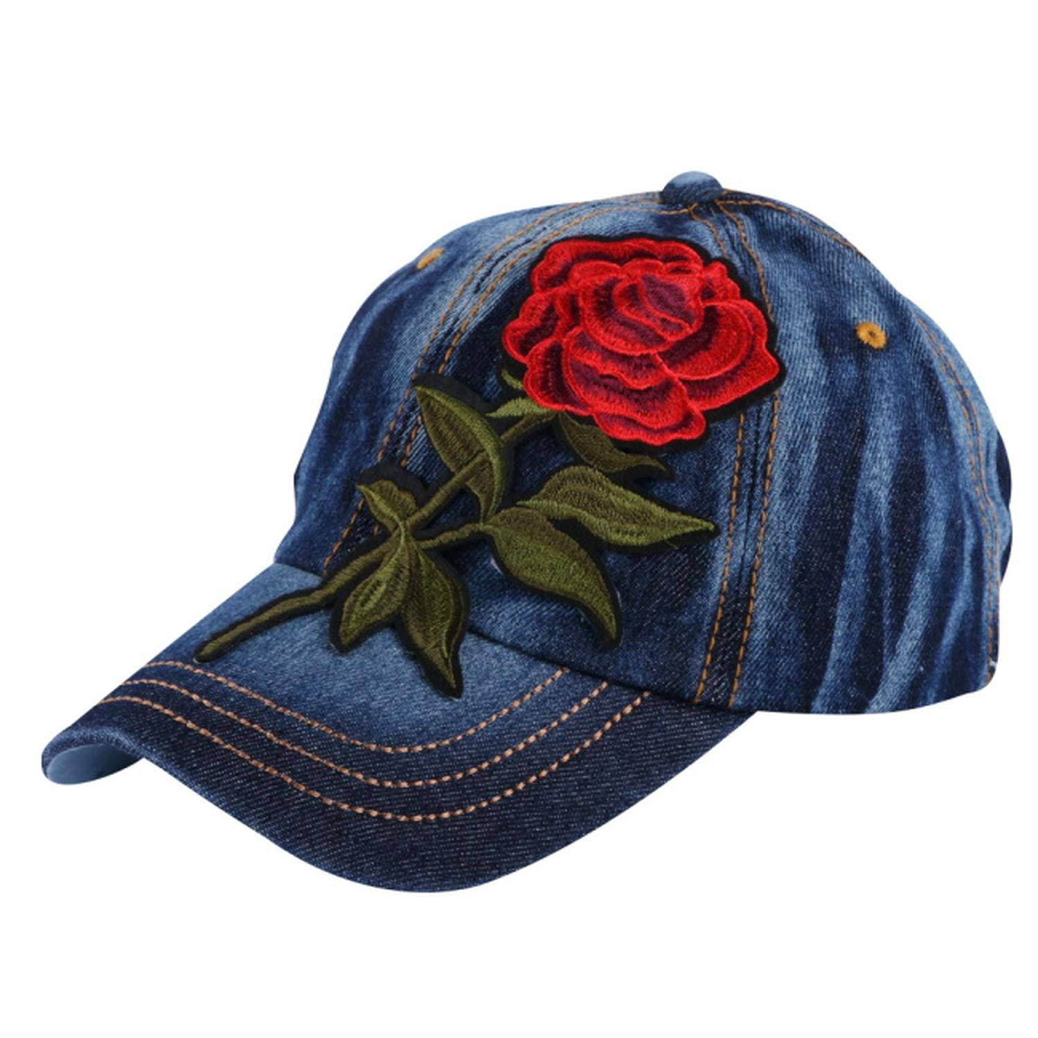 Trendy Women Girl Beauty Baseball Cap Rose Floral Design Hip hop Snapback hat Spring Summer Autumn hat
