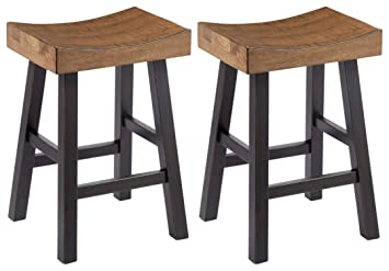 Pleasant Ashley Furniture Signature Design Glosco Barstool Set Counter Height Vintage Casual Set Of 2 Two Tone Ncnpc Chair Design For Home Ncnpcorg