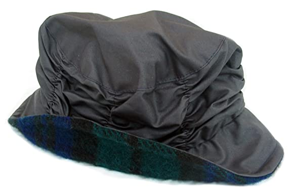 d8dbb4dd8fd Tweedmill Textiles Cloche Rain Hat - Navy Blue Wax Black Watch ...