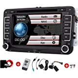 Doppia 2DIN autoradio per VW Volkswagen Eincar GPS 7inch autoradio con GPS Can Bus di navigazione FM AM Autoradio Bluetooth Dash HD 1080P Car DVD Player + TV + GPS Map Carta