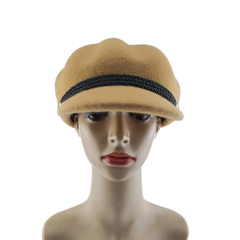 Dilijo 100/% Wool Felt Beret Hats Womens Newsboy Caps Visor Winter Wool Beret Millinery