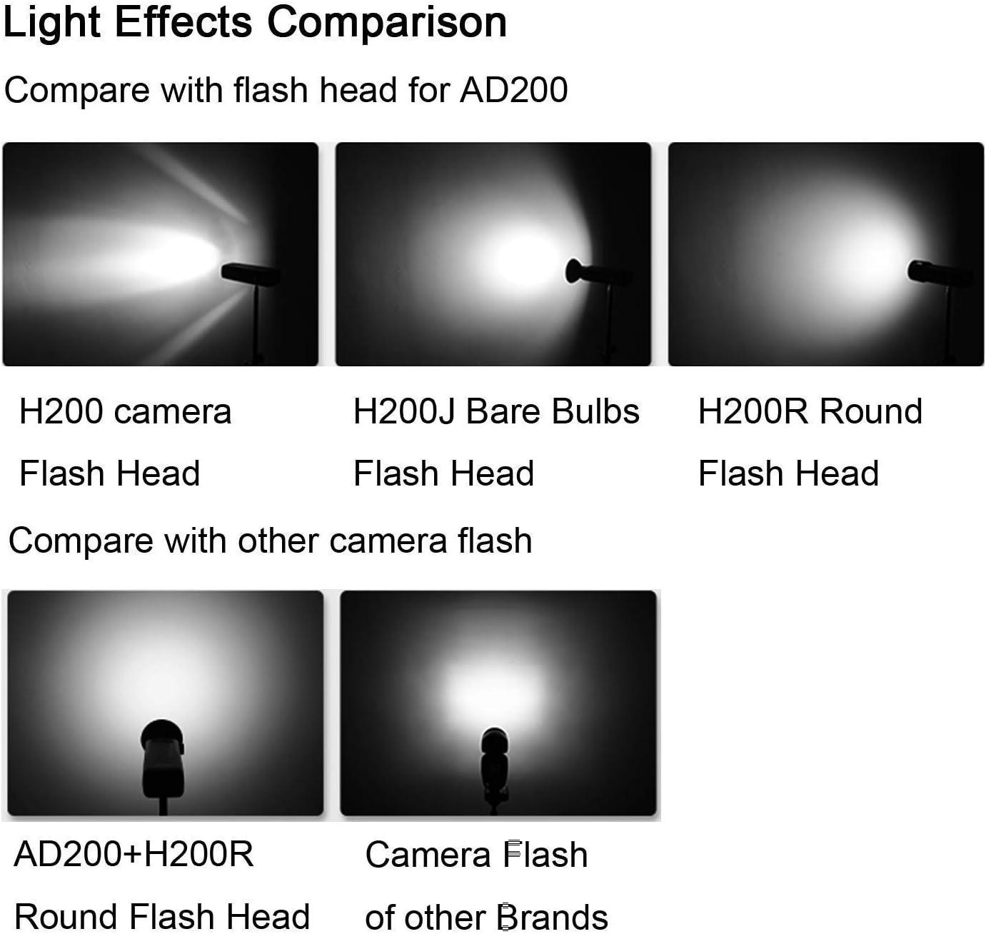 Godox H200R Gold 200W Flash Super Power et effets de lumi/è re naturelle pour Godox AD200 Flash de poche et portable effets de lumi/è re douce et douce pour prendre effets de lumière douce et douce pour prendre