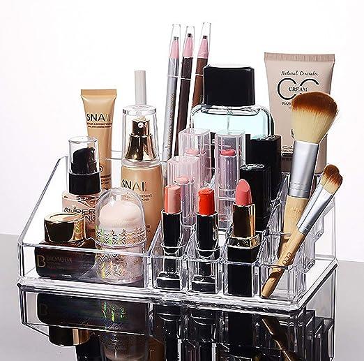 MOOKLIN ROAM Organizador de Maquillaje Caja Cosméticos Transparente Acrílico Joyería Organizador Maquillaje Exhibición de Estuche para Guardar cosméticos y Productos de Belleza: Amazon.es: Hogar