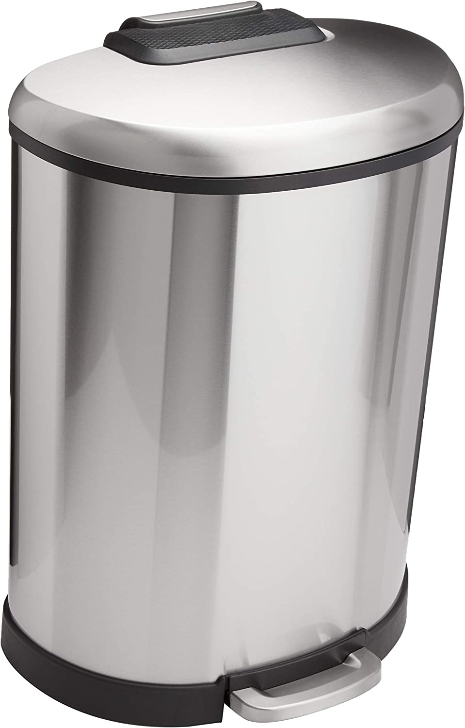 AmazonBasics D-Shaped Soft-Close Trash Can - 50L