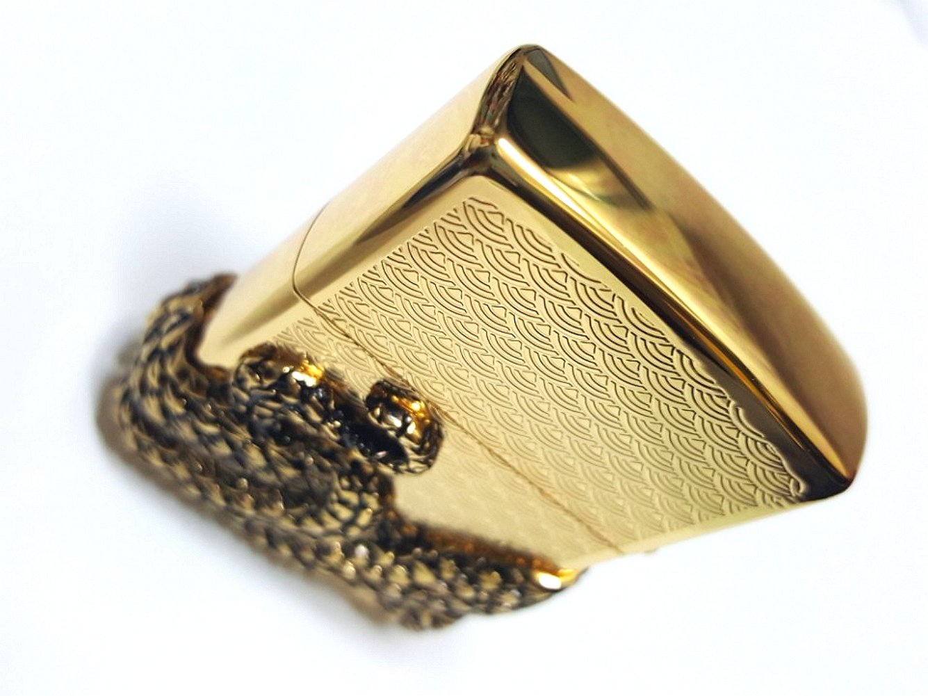 Zippo Snake Coil Gold Lighter / Genuine Authentic / Original Packing (6 Flints set Free Gift) by Zippo (Image #7)